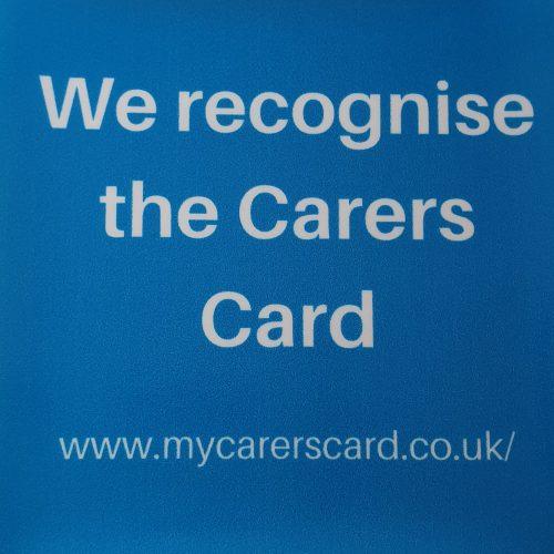 Carers Card sticker