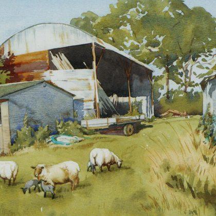 A painting of Jennifer's Farm